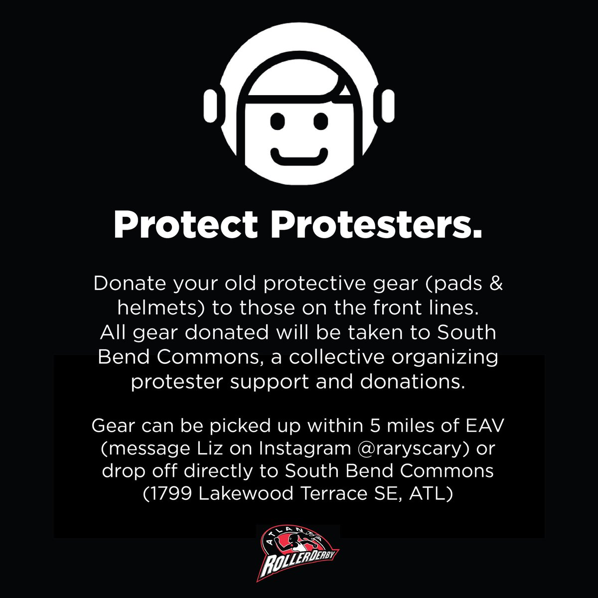 Got old gear laying around? Well we have a good place to donate it. #BlackLivesMatterATL #blacklivesmatterpic.twitter.com/jA57tFAqcz