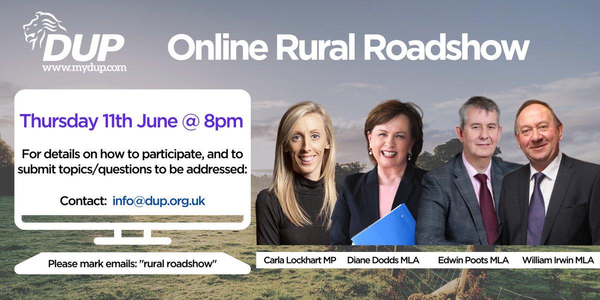 Online Rural Roadshow - Thursday 11th June at 8pm