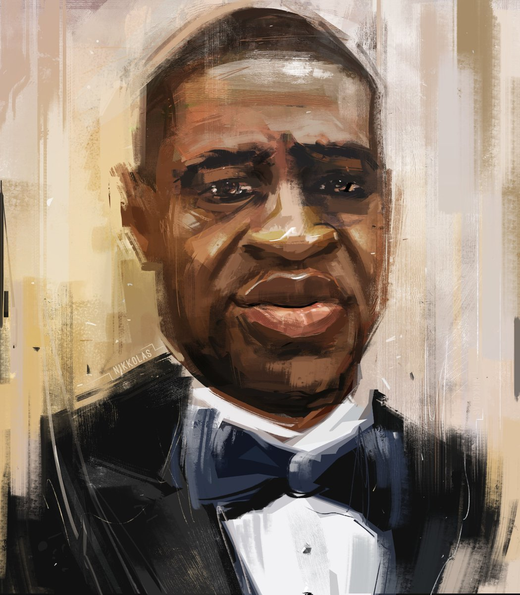 In our new episode of The New Arab Voice we interviewed the talented @4NIKKOLAS on how art can contribute to the #BlackLivesMatter movement and challenge oppression. His portrait of #GeorgeFloyd has touched the hearts of many.   Tune in here: https://bit.ly/309wWNjpic.twitter.com/RtduNS2kYg