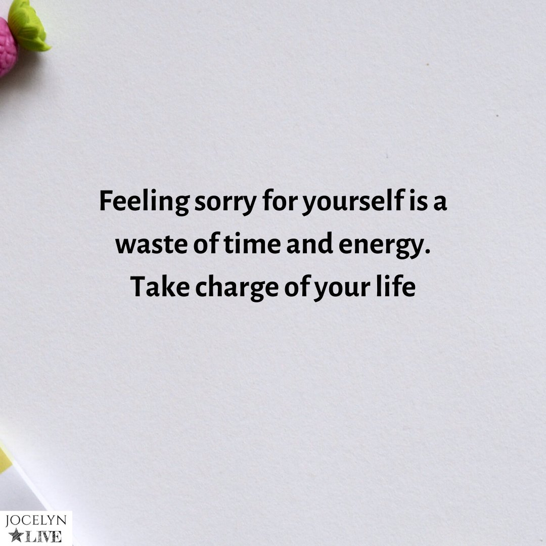 Feeling sorry for yourself is a waste of time and energy. Take charge of your life. . . . . . . #jocelynlive #StrengthtoLove #karma #loveyourself #marcusaurelius #anger #annoyance #alberteinstein #yogasutra #spiritual #goddard #nevillegoddard #writersofinstagram #writerscommunitypic.twitter.com/EZ8Cpoj4iF