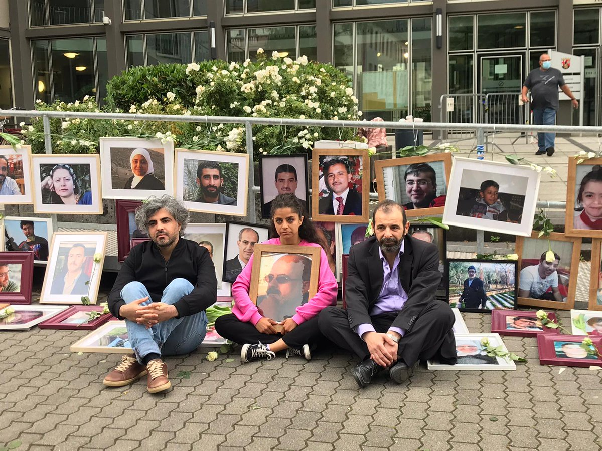 It took a while, but now it's online - our report on the hearing of @anwaralbounni, #HumanRights lawyer from #Syria (right in the photo), in the #AlKhatibTrial in #Germany. He had a lot to say about #Assad's #torture system & the fight for #Justice4Syria https://t.co/Q0MGZVNM6x https://t.co/8zTqGORPWY