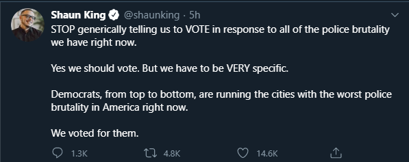 Shaun King is 100% correct