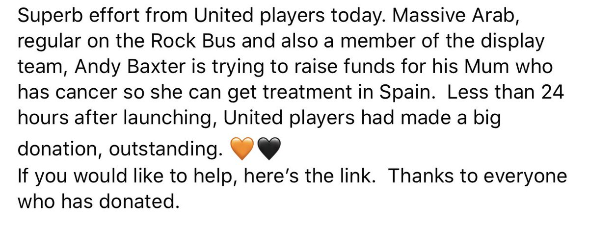 Please look and RT. Amazing from Utd players. 🧡🖤 @dundeeunitedfc @CeresArabs @Mark5Connolly @andrewrobertso5 @Shankland_25 @nickyclark91 @paulmcmullan_96 @kevingallacher8 @andymclaren7 @CharlieMiller76 @Liamsmith_29 @PaulPaton4 @ian_harkes @jranks11 gofundme.com/f/lorraine039s…