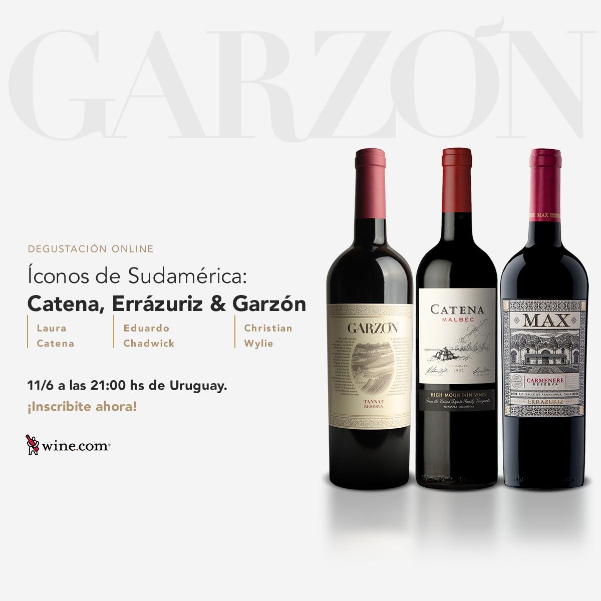 El próximo jueves 11 de junio participaremos de un Virtual Wine Tasting junto a otros dos iconos de sudamérica. Una invitación de @Wine_com para conocer más cerca de las características de nuestros vinos. Pueden registrarse en https://t.co/N7EzlN5IiL #BodegaGarzón https://t.co/7IXx7Tlj5B