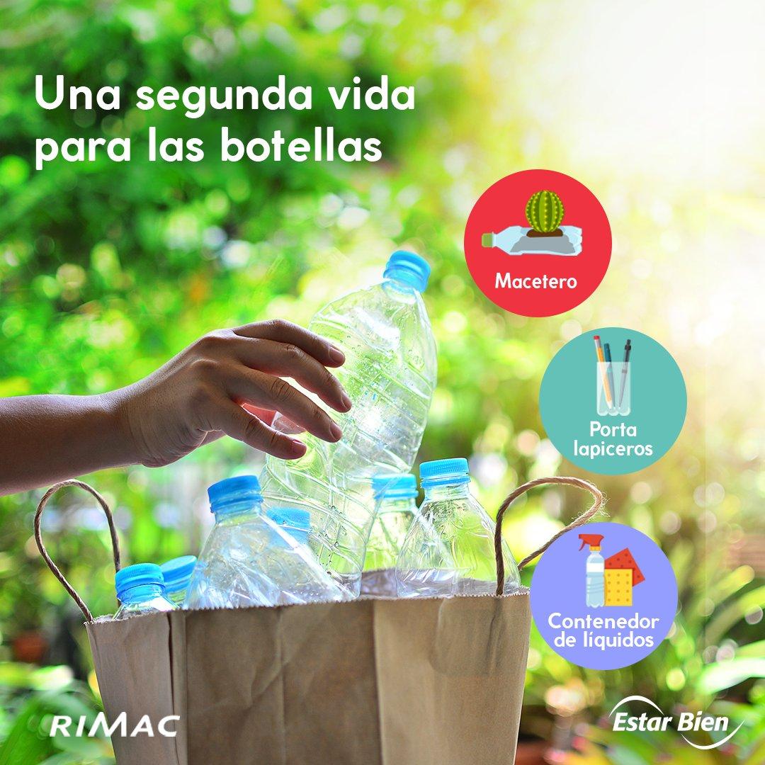 ¿Sabías que solo reciclamos el 9% de todo el plástico que fabricamos? Ahora tú puedes darle una segunda vida a una botella desde tu casa. Aquí hay algunas formas sencillas y creativas para usar una botella. Y tú, ¿qué otras formas de reciclaje creativo conoces? #ViveBien #Cuídate