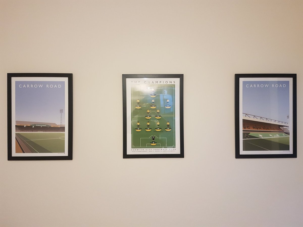 Thanks @matthewjiwood very happy with my pictures! Making the office look the business! #ncfc
