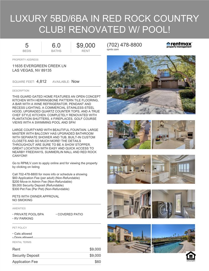 Blast #203597 1500 Co-Op, Luxury 5BD/6BA in Red Rock Country Club, Renovated With Pool https://r.pb-mail.net/sm/203597pic.twitter.com/GnZGtQApB9