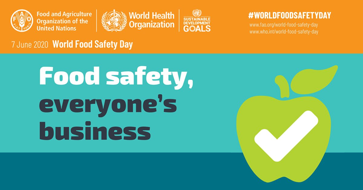 Help us and our KLEANZ #FoodSafety Partners celebrate World Food Safety Day on June 7th!  https://t.co/jPm7ZFKakc  #WorldFoodSafetyDay #ZeroHunger https://t.co/CuJAYIThKq
