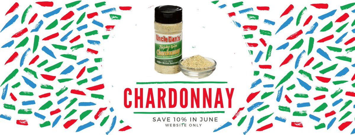 Wine down your weekend with our Chardonnay seasoning by Trophy Spice.   https://t.co/TAf4HUq3OX  #wine #chardonnay #whitewine #UncleDans #TrophySpice #eatwell #seasonbetter #makeitfresh #artisan #artisanal #eatwellbewell #eatrealfood #healthyfood #nutrition #foodlove #eatclean https://t.co/RhUK1oQhXD