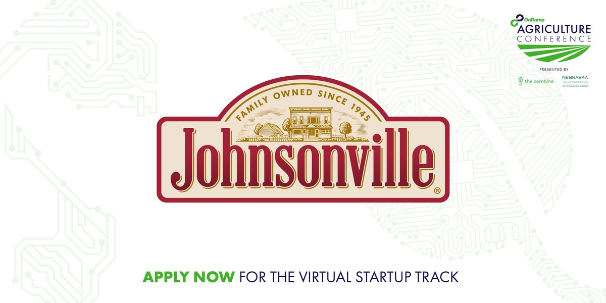 It is brat and hot dog season! 🌭☀️  The brat king, @Johnsonville, wants to meet one-on-one with startups at #OnRampAg on July 9!  Be one of those startups: APPLY NOW! (apps due Monday)  https://t.co/fp3CL6rq3b @gener8tor @NebraskaCombine @DevelopNebraska  #agtech https://t.co/aD6Z7vBprb