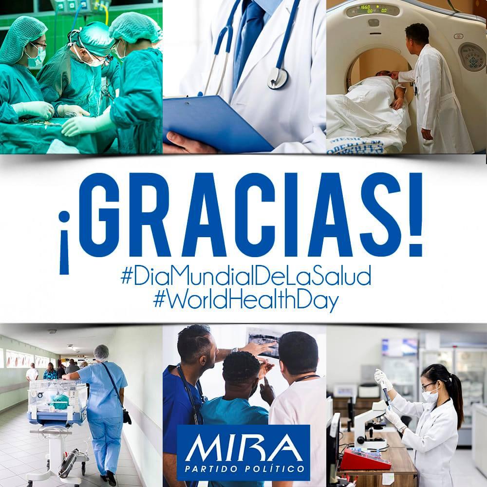 En este día hacemos un reconocimiento a todos los profesionales de la salud, no solo por su esfuerzo para hacer frente al Covid-19, también por su permanente contribución a la salud y bienestar de todos los colombianos. #DiaMundialDeLaSalud #WorldHealthDay #QuedateEnCasa https://t.co/Fh4Mi2Y4bd
