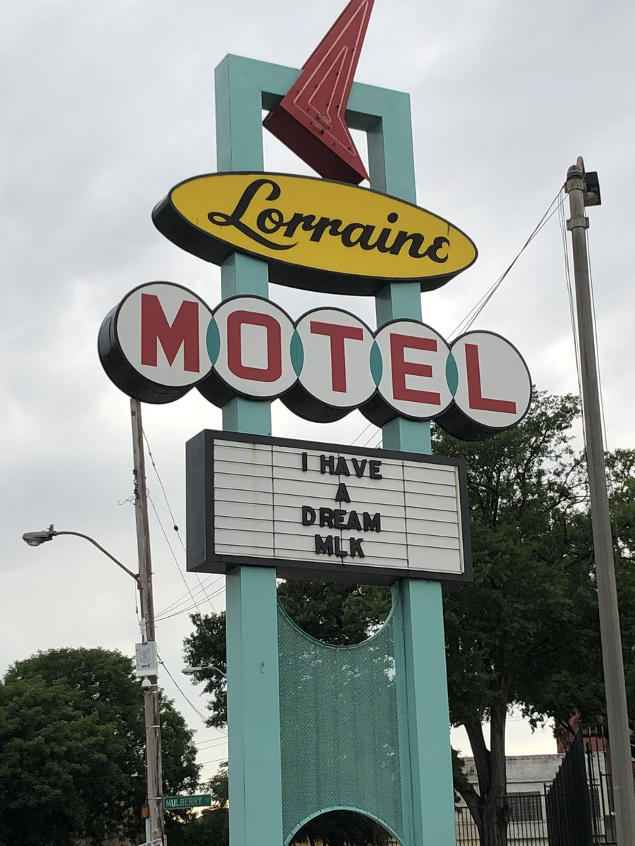 Standing outside the Lorraine Motel where Dr. Martin Luther King was assassinated. Can't recall too many times in life I speechless, but this was one of those times. Will be returning again when the museum is open. #BlackLivesMatter #IHaveADream #goosebumps https://t.co/v2JwD19YvE