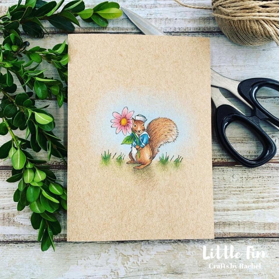 Oh my gosh, could #handmade #cards get any cuter!? This little sweetie is by Little Finn and was a #Mother's Day card.  #handmade #business #supporthandmade #smallbusiness #australianmade #papercraft #squirrel