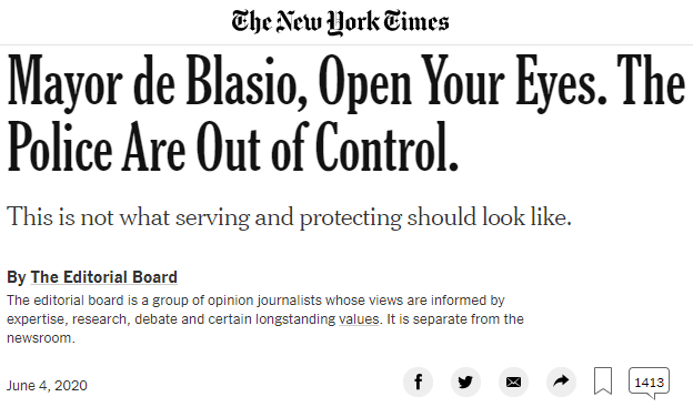 Mayor de Blasio, Open Your Eyes. The Police Are Out of Control. nytimes.com/2020/06/04/opi… #bospoli #mapoli #bostonprotest #blacklivesmatter Does Mass. state law protect citizens from law enforcement use of excess force? @Marty_Walsh @CharlieBakerMA
