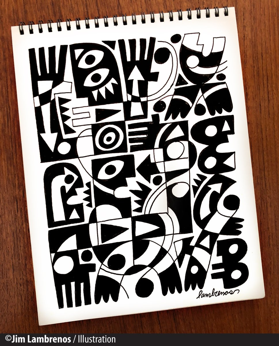 """My """"Idea Book"""" lately has been working in overdrive and that's fine with me. #Sketch #Graphic pic.twitter.com/bnYn8sTHMB"""