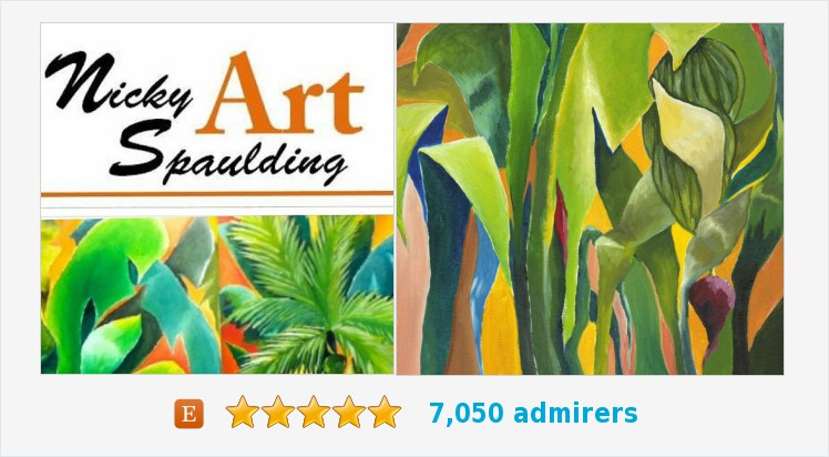 #Tropical #Contemporary #HomeDecor Green Still Life, Giclee of Original Acrylic Canvas Title: Mixed Bananas 3b  https://www.etsy.com/NickySpauldingArt/listing/163033899/tropical-wall-art-contemporary-home?ref=shop_home_active_22…pic.twitter.com/XBeoSVpPYs