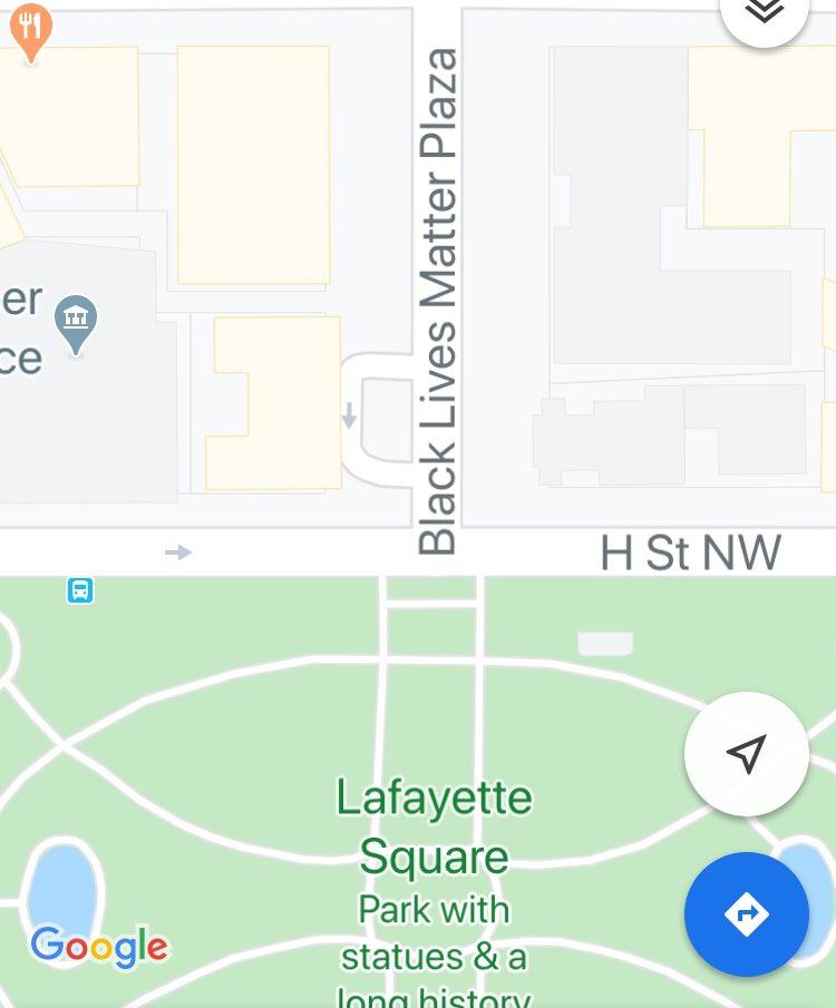 Google Maps wasting no time: #BlackLivesMatterDC