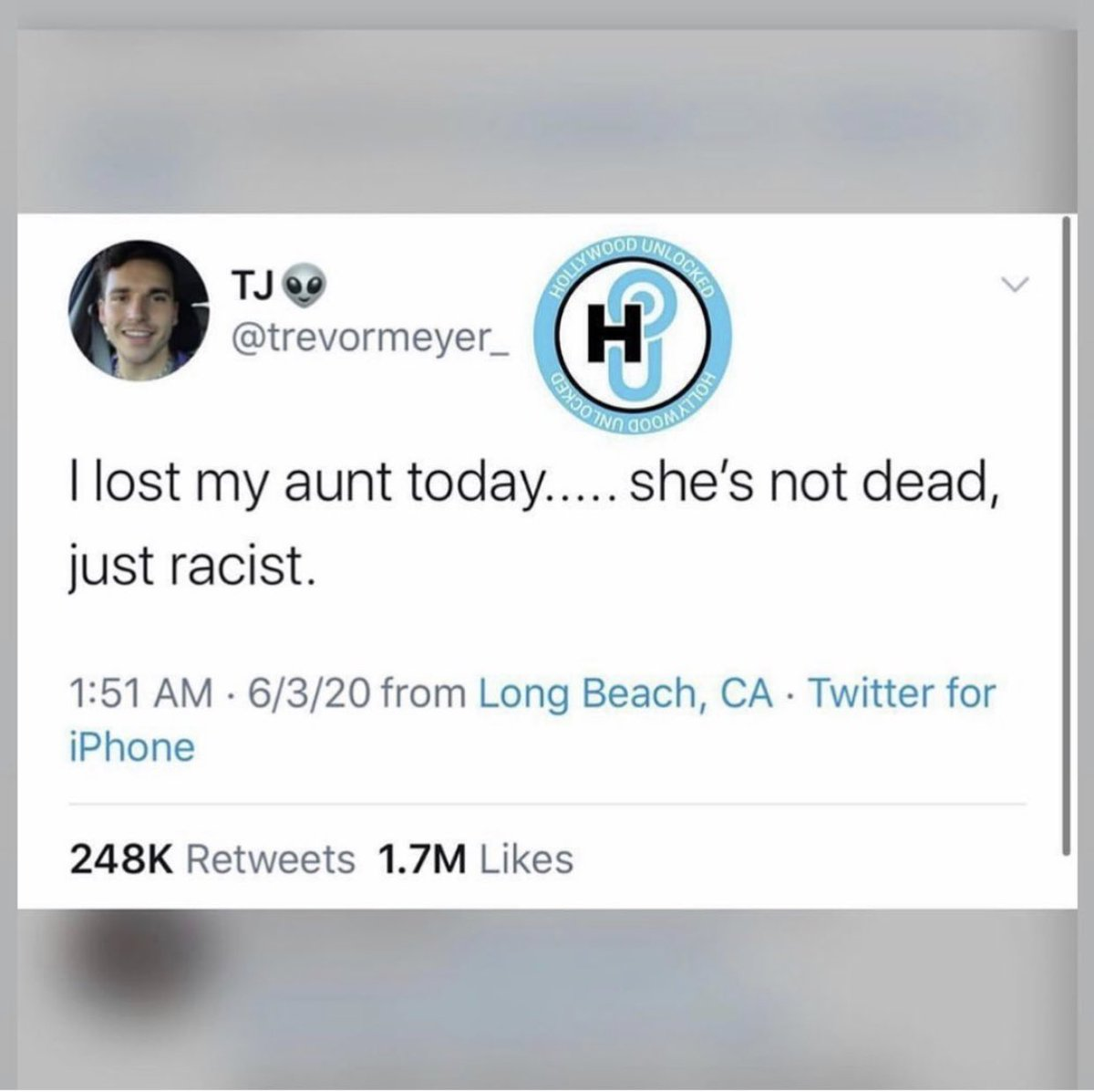 You are promoting and condoning racism when you don't shine a light on it... #EvenWhenItsYourOwnFamily https://t.co/MYz9i4ZLdW