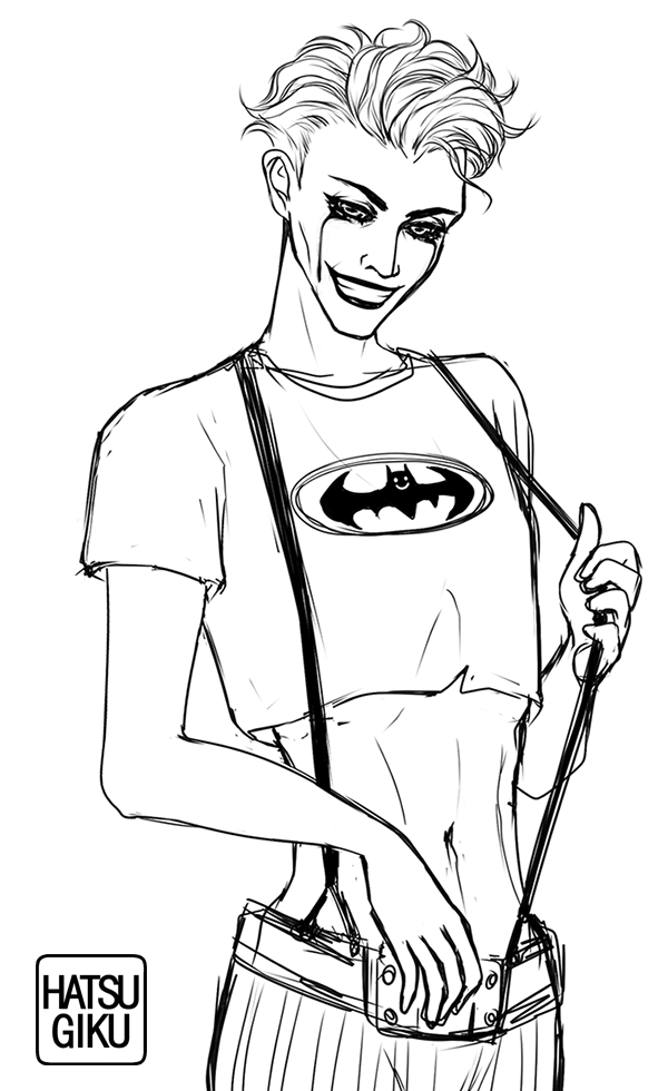 """Some #Joker doodles based on """"Batman: White Knight"""". The plot is kinda iffy, but I like the art and design, more specifically Joker's croptop look pic.twitter.com/9TpWRjI7Hn"""