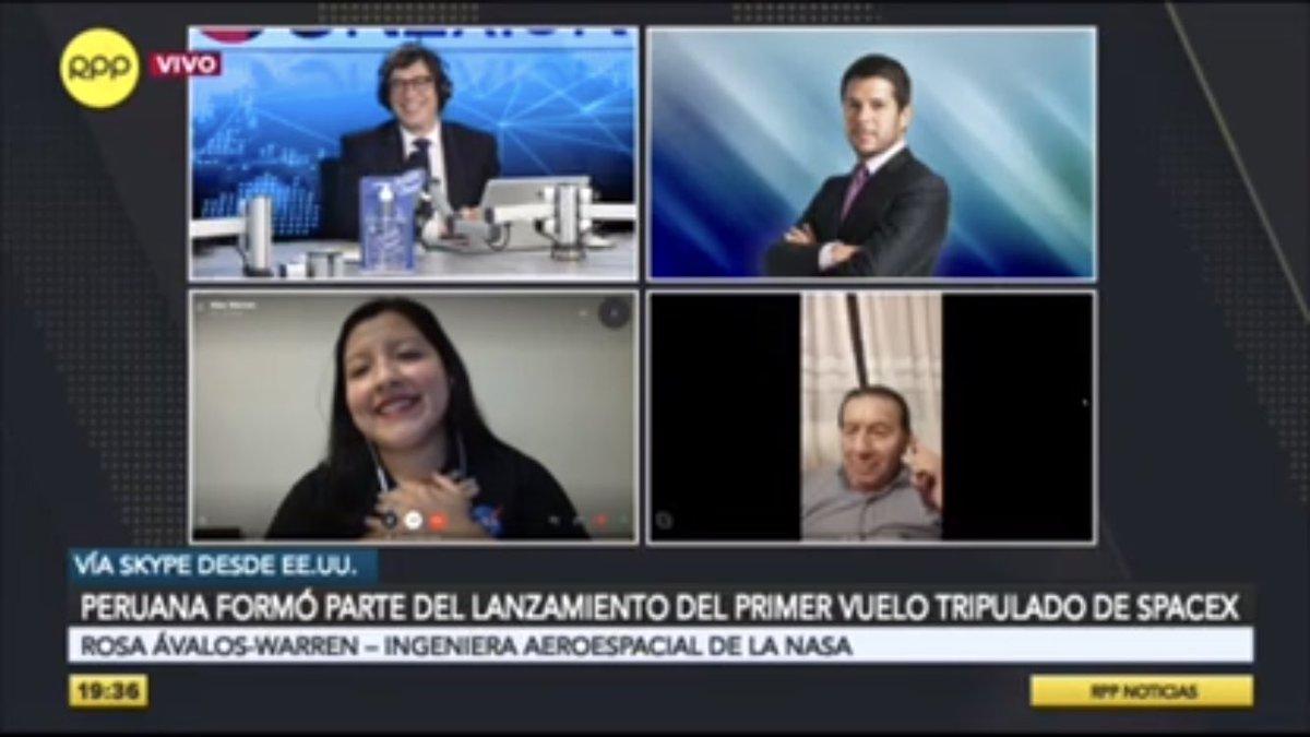 🔴 ¡EN VIVO en #Conexión | ¡EMOTIVO! 🤗   Rosa Ávalos-Warren, miembro de la @NASA_es, recibe el tierno saludo de su tío Desiderio Chumpitazi que vive en Chilca.  🗣️ RPP, #LaVozDelPerú 🇵🇪   📻 ► 89.7 FM / 730 AM  📲 Vía web ► https://t.co/p3D4WYM0PK https://t.co/hq33agdQTa