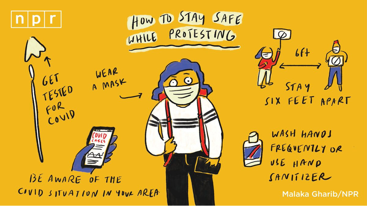 A few tips to help reduce your risk of coronavirus exposure during protests. trib.al/uDWEflQ