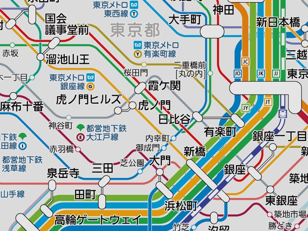 路線 東京 図 メトロ