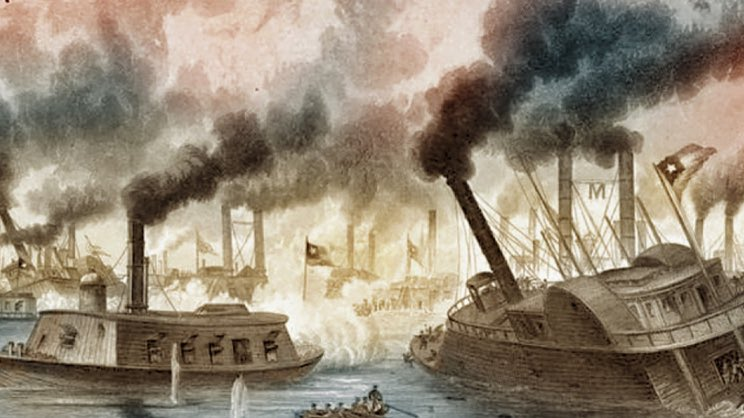 June 6th,1862 - Union Forces Take Memphis,TN (Wiki) https://en.m.wikipedia.org/wiki/First_Battle_of_Memphis …  #CivilWar #Memphis #Tennessee #Navy #Boat #MississippiRiver #Capture #History #AmericanHistory #America #USA #Battle http://CivilWarCourier.Com pic.twitter.com/PSskWHnyxJ