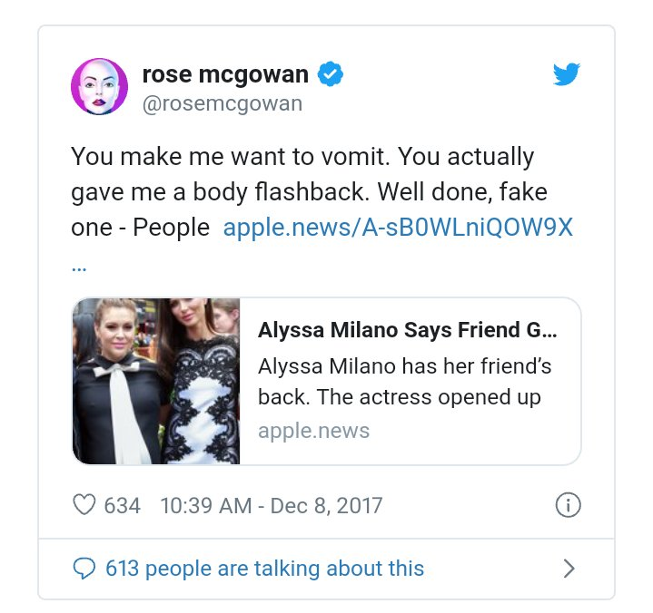@Alyssa_Milano why should anyone listen to you? You are a hypocrite! Your friends with Harvey Weinstein's ex-wife who knew exactly what he was doing to women! YOU ARE NOT A ROLE MODEL! pic.twitter.com/4Tv1UbGG7h