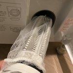 ドラム式洗濯機の排水フィルターの掃除に!キッチンの水切りネットが優秀