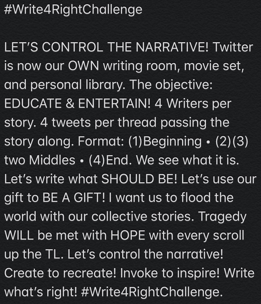 @BeauWillimon Would love your support! 🙏🏾 #Write4RightChallenge https://t.co/lBfYphmKYm
