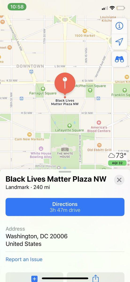 WAIT WAIT WAIT...So isn't The Whitehouse address now 1600 Black Lives Matter Plaza NW ??? ‼️😏 @zellieimani https://t.co/8lgkGo027j