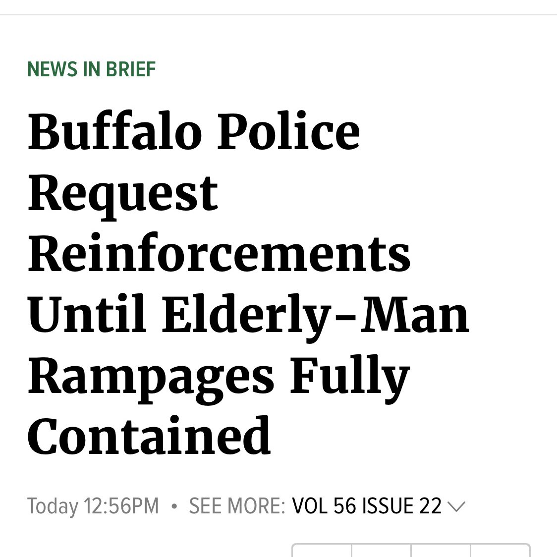 I just scrolled through @theonion. They are on fire today https://t.co/yA3pMs1t16