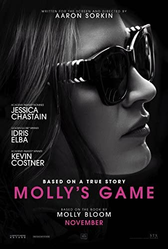 Based on a true story about a former Olympic athlete who ends up running an exclusive poker game...our #SportsFlixFriday #POTD is 2017's #MollysGame. There's much to like about this #AaronSorkin flick, from @jes_chastain to @idriselba, this is a cool film which is worth the time!pic.twitter.com/GNvlO1Uoem