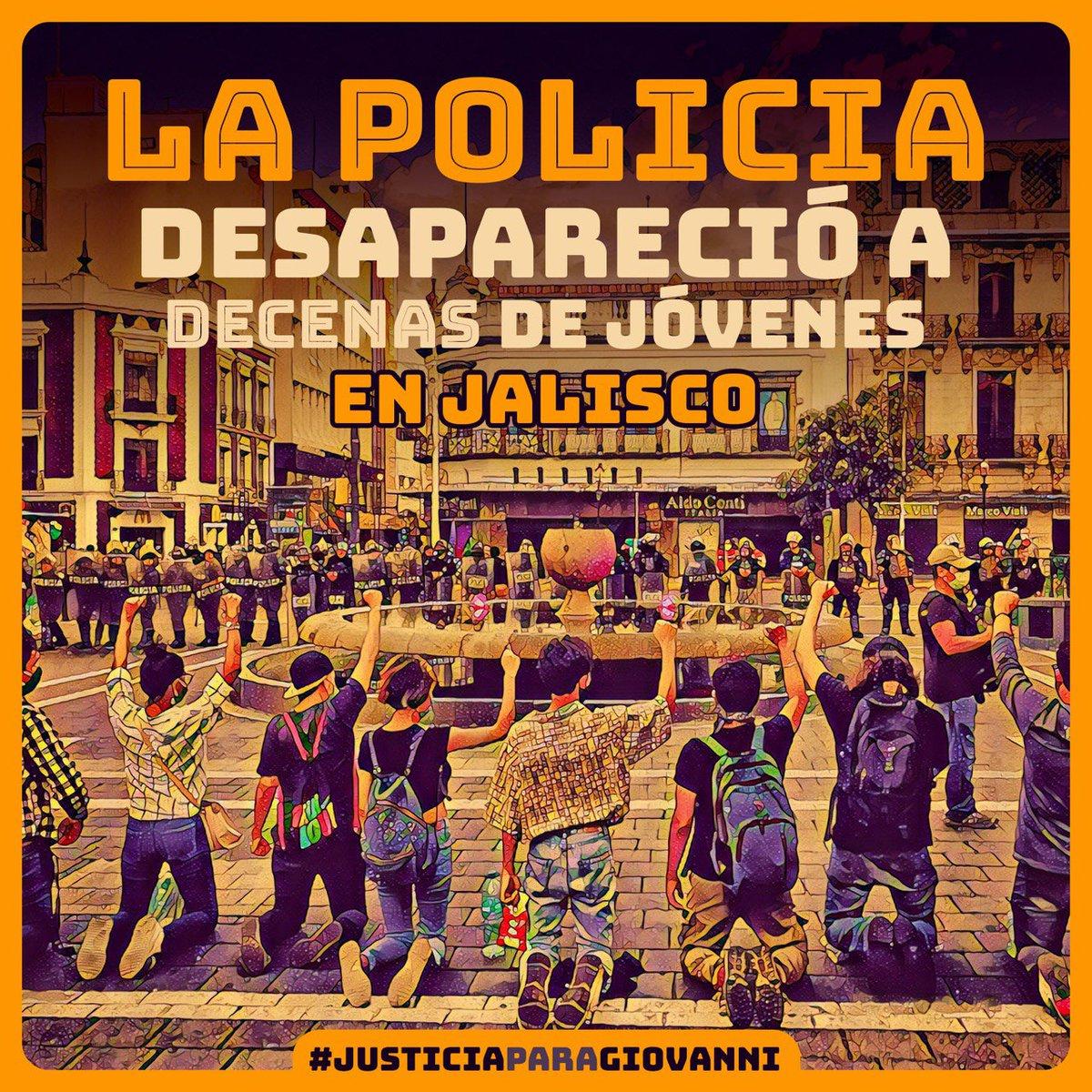 La policía desapareció a decenas de jóvenes en #Guadalajara Jalisco. #NoPuedoRespirar Reprimieron la protesta #JusticiaparaGiovanni  nos faltan más de 18  #AlfaroRepresor salieron vestidos de civiles  #ViolenciaPolicialGDL Reporta si les localizas #ACAB https://t.co/zW4JqgNxIM
