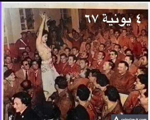 In 1967, Egypt military officers enjoying belly dance just before the day of war against Israel  How stupid is Egypt Army!! Still they are doing same, never learn from history pic.twitter.com/f2a1xvB4yg