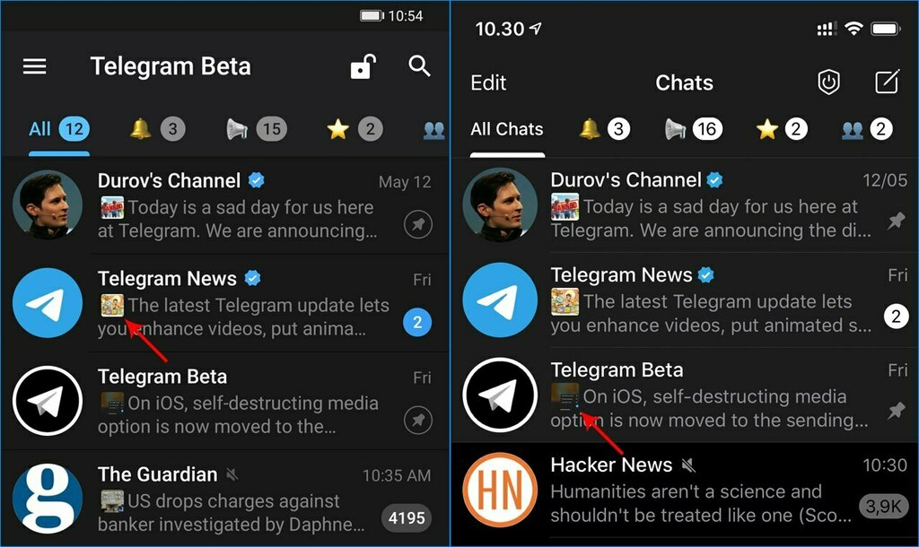 🆕 Media Preview in Chat List  New in Telegram Android Beta 6.2 (1987). On iOS, enable it from Debug settings.  #Android #beta https://t.co/K9rJwSBlcI https://t.co/CQxHz8N2i5