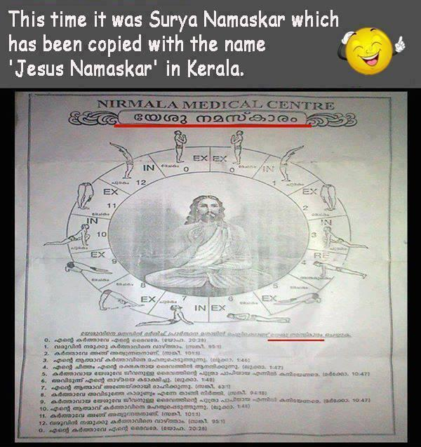 Meanwhile Indians being fooled in India with Jesus Yoga pic.twitter.com/twVRbkb9F5