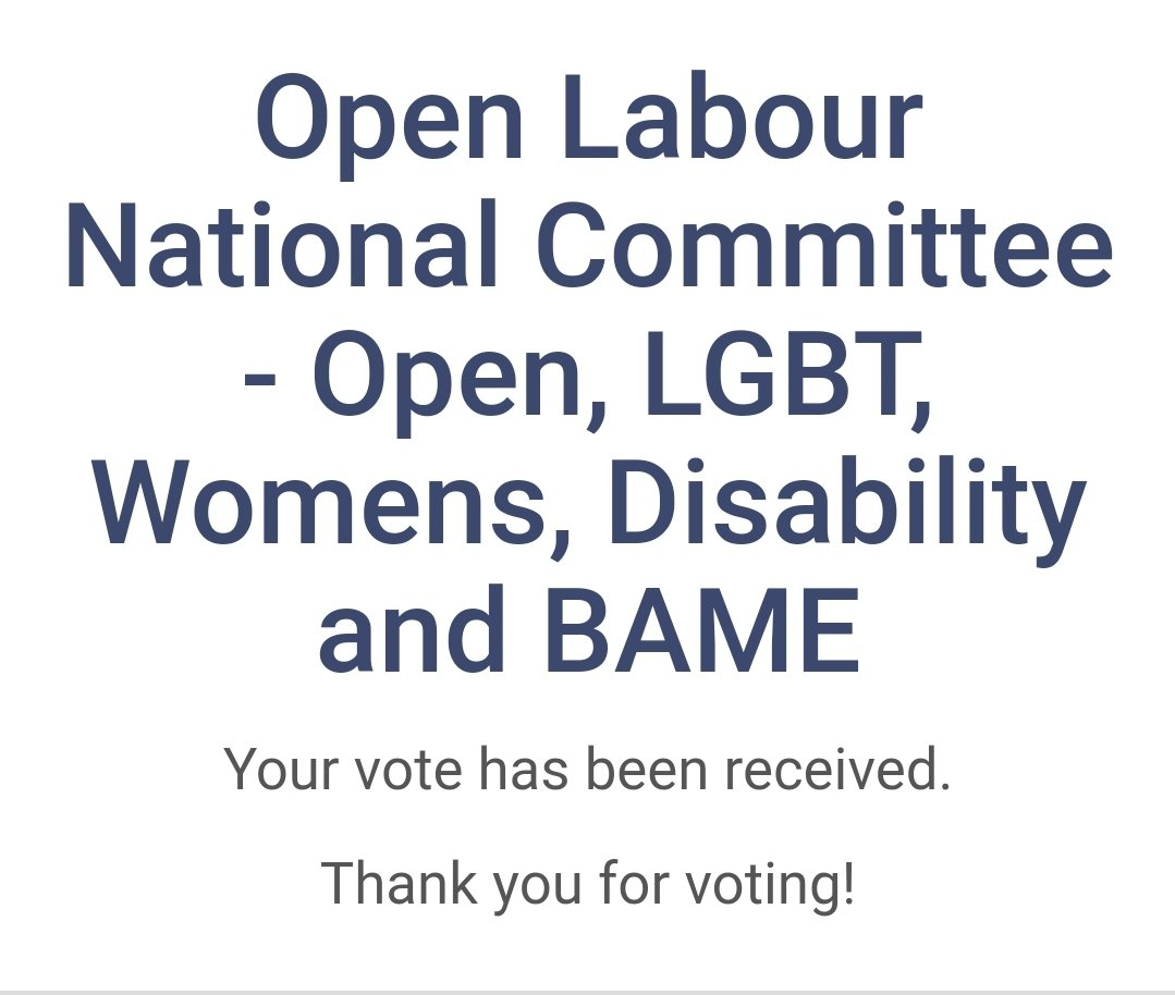 It's really great to see so many fantastic candidates stand in @OpenLabour elections. It was a pretty hard task choosing who to vote for! Good luck to all the candidates and I look forward, eagerly, to an open future.   #openlabourelections https://t.co/SgtUY4EOU7