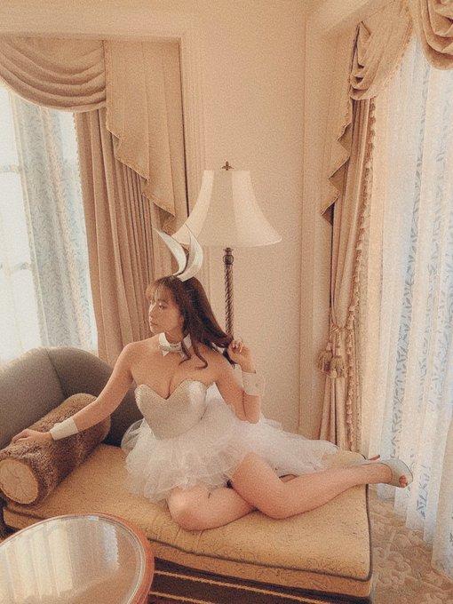 バニーガールの渋谷さんのTwitter自撮りエロ画像46