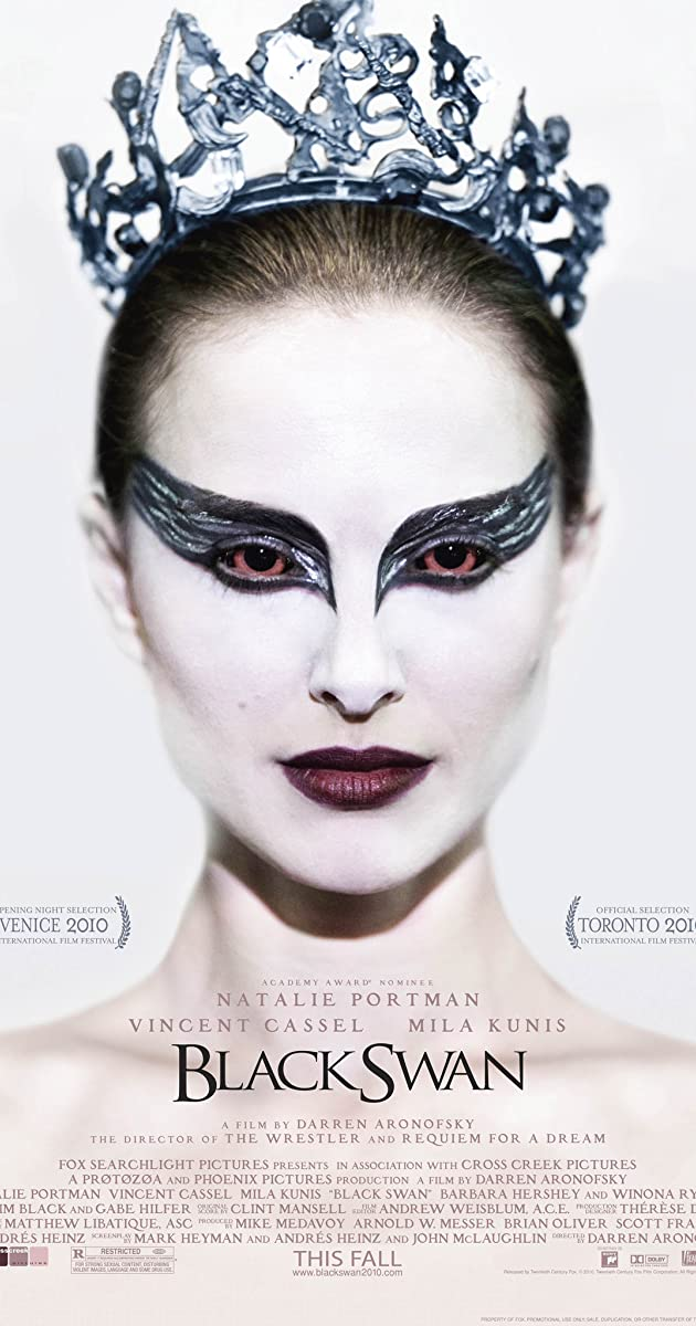 Black Swan (2010)  +Oscar-caliber performance by Natalie Portman +Narrative is incredibly tense and shows the sad aspect of show-business +Cinematography is excellent +Several scenes took me by surprise +Ending is appropriately powerful,  -but left unanswered questions  9.9/10 pic.twitter.com/2wzbTjZa34