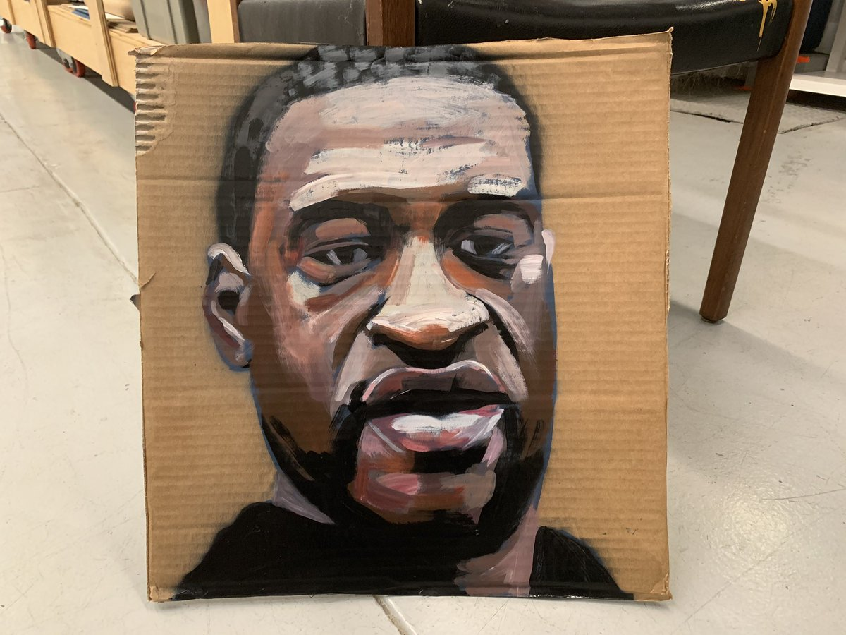 Just finished this portrait. I'll be taking it to the streets tomorrow. https://t.co/iyLFI3VaIv