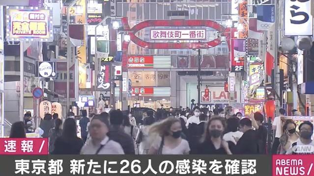 【新型コロナ】東京都で26人の感染を確認 3日連続で20人以上関係者によると、きょう東京都が確認した新型コロナウイルスの感染者は26人だった。3日連続で20人以上だった。