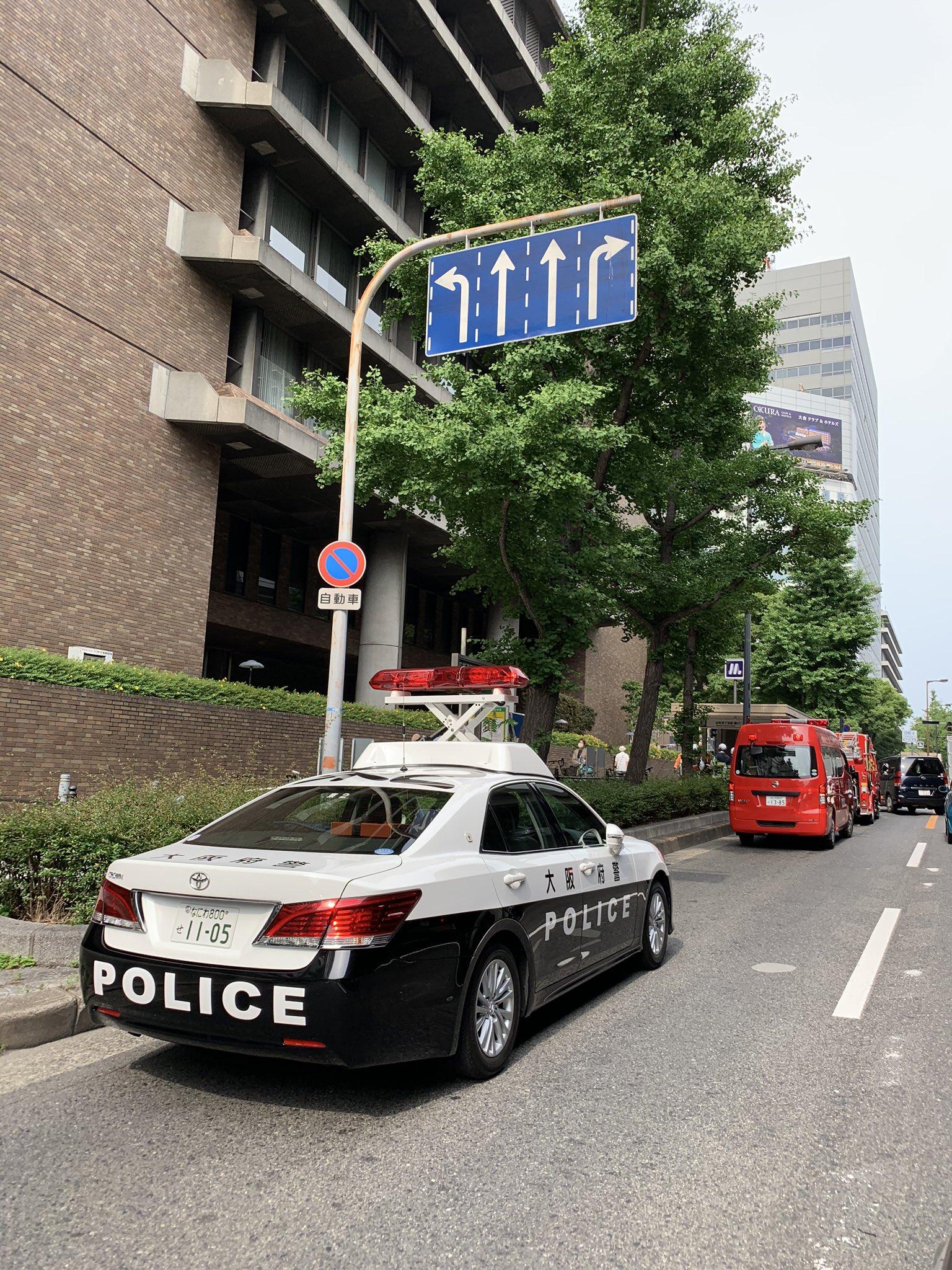 大阪メトロ谷町線の谷町四丁目駅で人身事故が発生した現場の画像