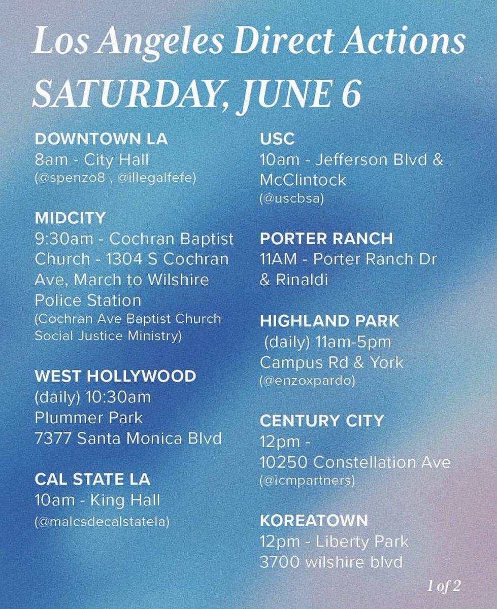 Saturday. LA going big!