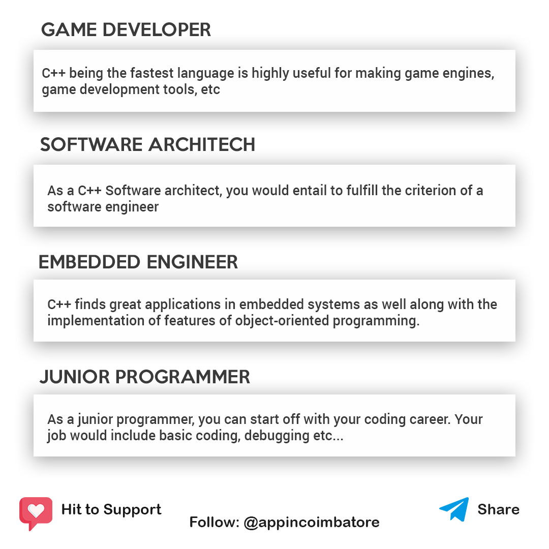 Are you thinking C++ is old? Not you are wrong.  Start your Journey to learn C++ with Appin Coimbatore Link in Bio#github #stackoverflow #html5 #coderslife #javaprogramming #learnprogramming #dotnet #pythonprogramming #peoplewhocode #programmerslife#developerspacepic.twitter.com/68ME94PO91