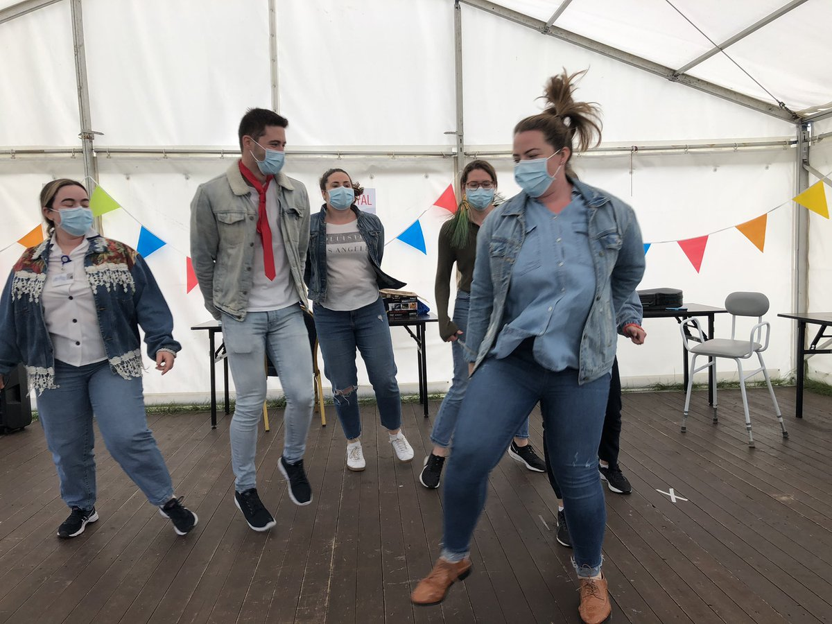 Great fun this afternoon in the marquee! Thank you to the patients who also provided entertainment with some fantastic singing.  @HsehealthW