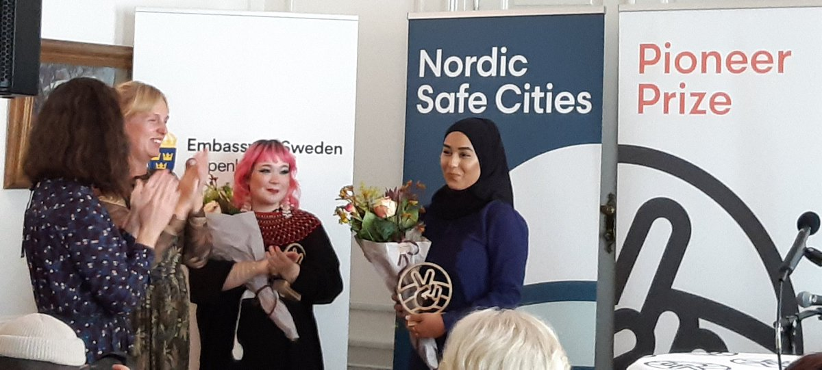 Fantastic initiative: @NordicSafeCity Pioneer Prize 2021 award ceremony to recognize Nordic youths demonstrating extraordinary dedication to creating more tolerant & inclusive communities. @SwedeninDK @Jeppealbers https://t.co/3dQ70omgxe
