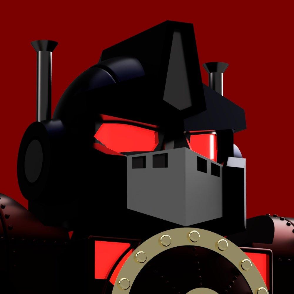 Es #Otoño y #Halloween se acerca, y qué mejor forma que usar a #NemesisPrime #Heartsofsteel como avatar  #Transformers #Chibi #chibiart #3Dmodeling #Decepticons #Autobots #steampunk #Robots #Black #EvilVer