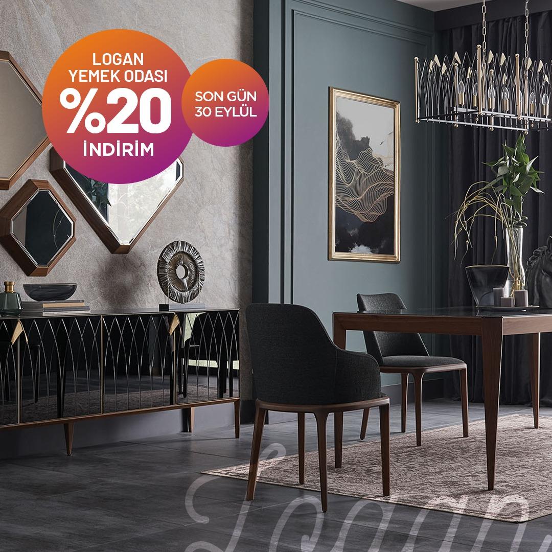 Logan Yemek Odası %20 indirim fırsatı ile tüm Doğtaş Mağazalarında ve web sitesinde, SON GÜN 30 EYLÜL!  #Doğtaş#ŞimdiTarzDoğtaş#Berjer#YatakOdasıTakımı#aksesuar#homedecor#interiordesign#dekorasyon#decoration #indirim#kampanya