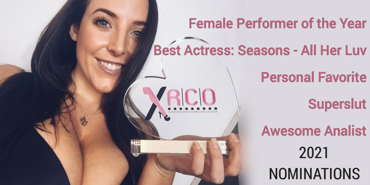 2021 @XRCOAwards nom.s announced (re. productions made Jan-Dec 2020). @ANGELAWHITE is named in five 🏆 🎭 💖 😈 🍑